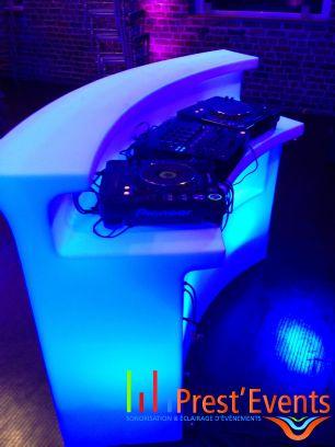 break bar slide lumineux mobiled prestevents Prest'Events Sonorisation Eclairage Mobilier Led  Lille